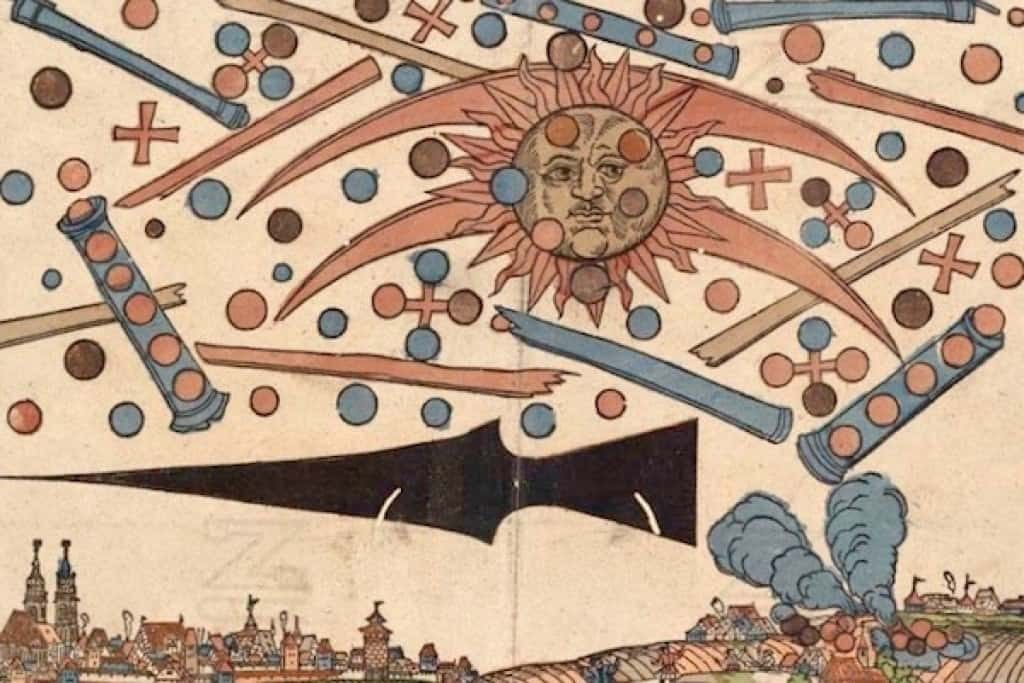The 14 April 1561 Nuremberg UFO woodcut illustration by Hanns Glaser describes some type of celestial event that occurred.