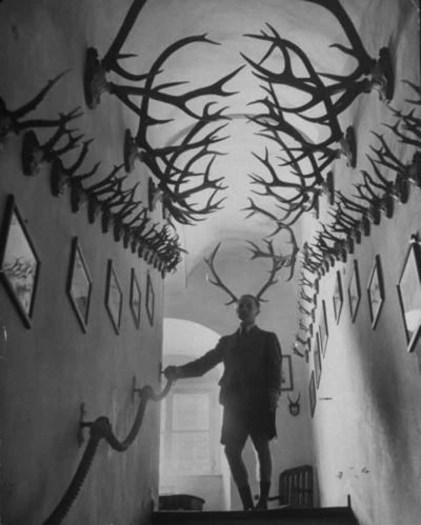 At the 10:45 mark of the Sad Satan game video, we see this image known as the Antler Man.
