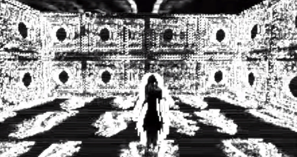 A creepy girl appears in the Sad Satan game. She can be seen in the second video.