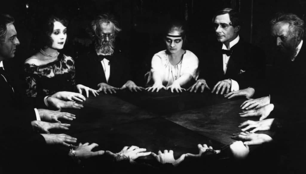 The history of paranormal investigation involved many different techniques including the seance.