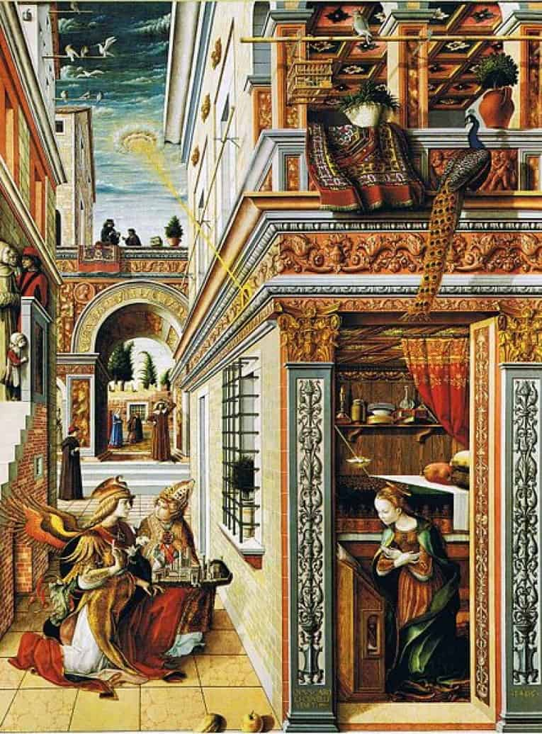 The Annunciation with Saint Emidius by Carlo Crivelli.