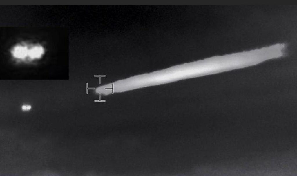 The object moves away after it has ejected something very hot into the atmosphere. Image credit: CFEAA.