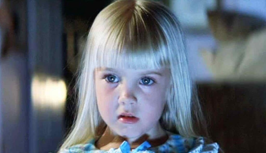 Heather O'Rourke played the part of Carol Ann in Poltergeist. Sadly, she passed at the age of 12. Source: Wicked Horror