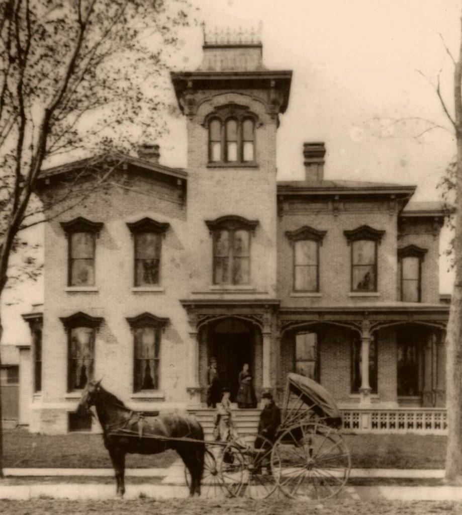 The Farnam mansion in 1880.