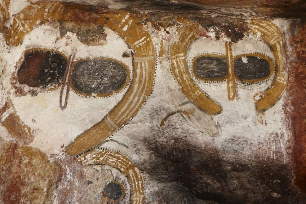The Wondjina rock art. Ancient aliens in art? You decide.