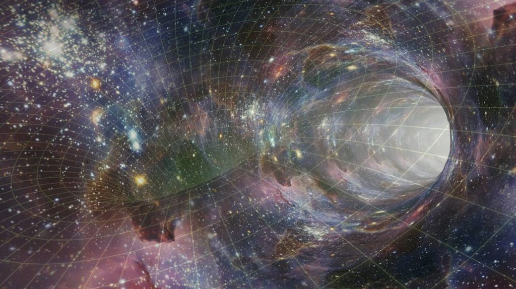 Space-time warps, wormholes, and time travel have had a prominent place in science fiction for decades. CC0 modified.
