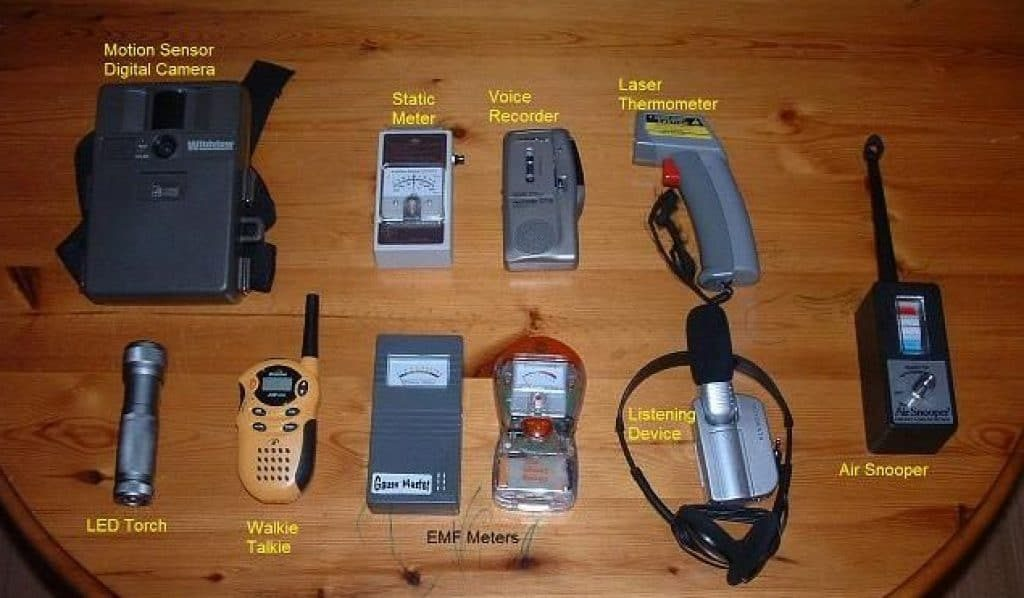 Basic ghost hunting equipment. Source: The Paranormal Society.