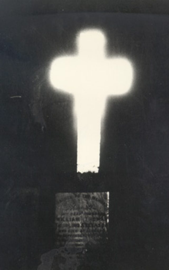 The lismore cross glowing