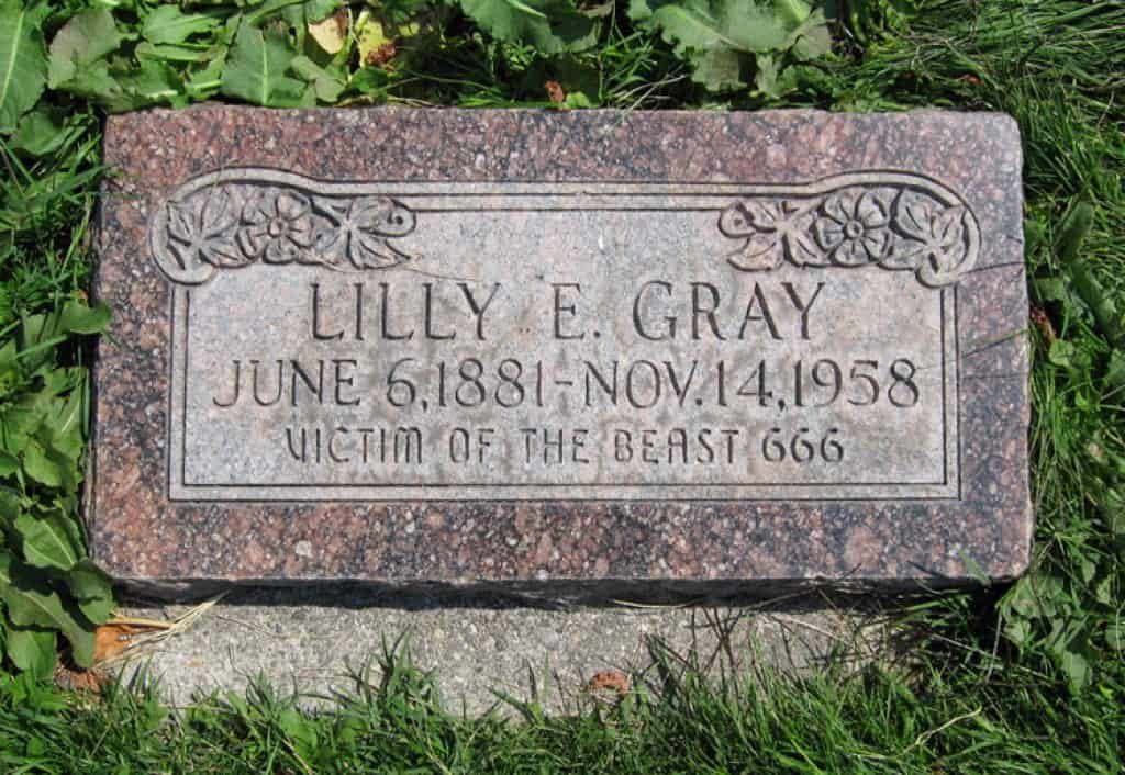 Tombstone of Lilly Gray.
