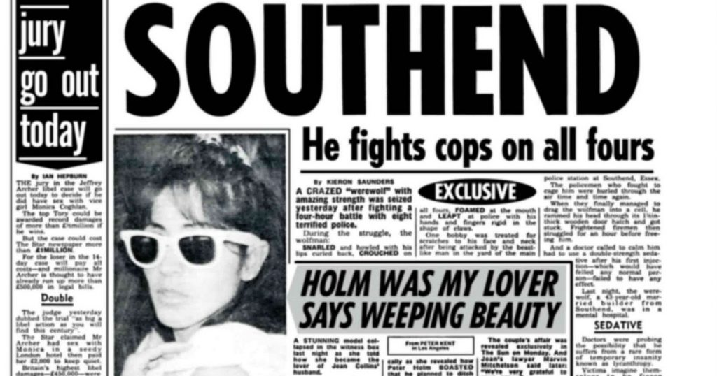 The Sun newspaper documenting the story of Bill Ramsey.