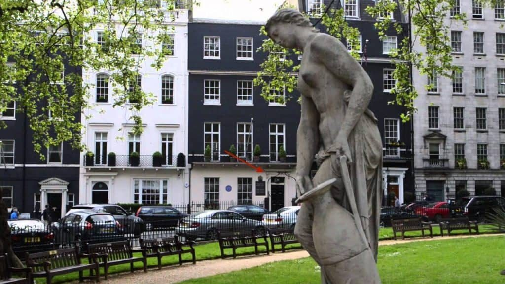 House No. 50 of Berkeley Square is a popular destination for ghost tours in London.