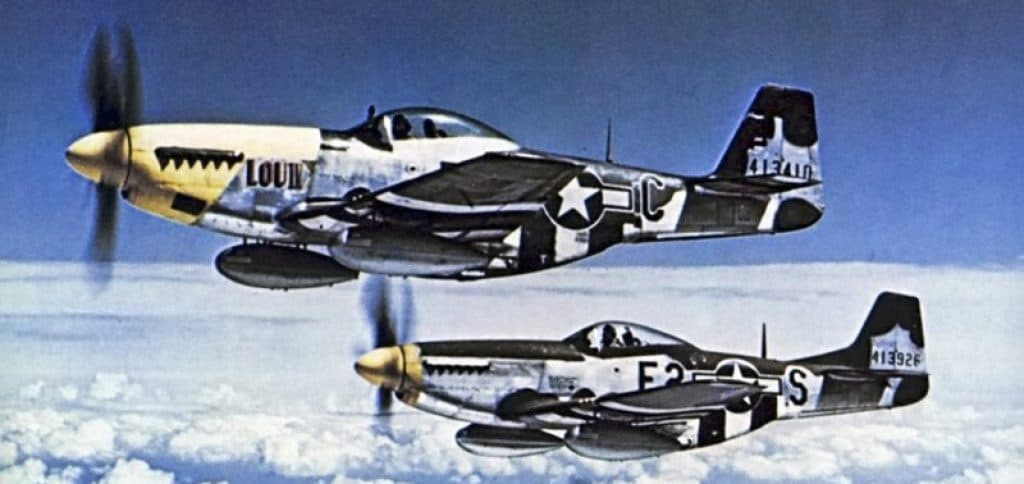 P-51 Mustangs fighters. Source: public domain