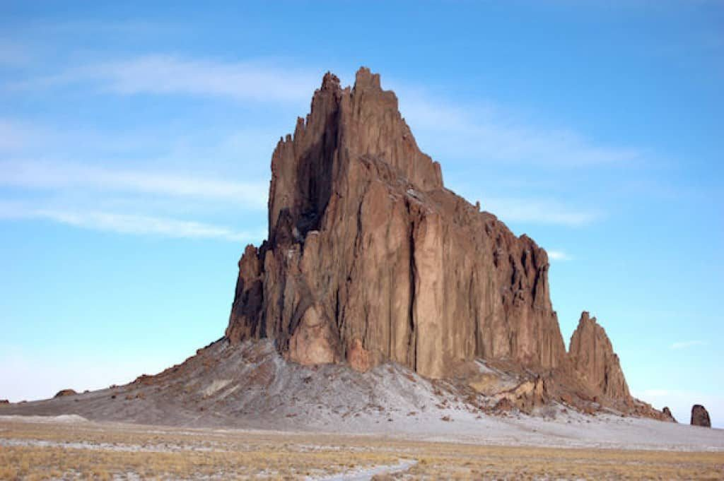 Shiprock, a sacred mountain to the Navajo people, is off Route 666.