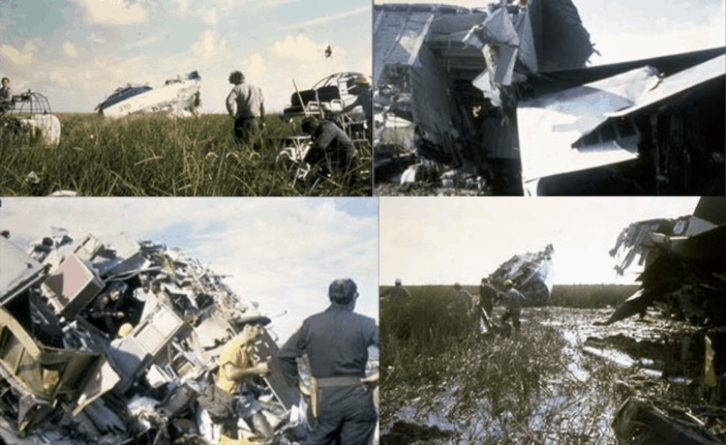 Wreckage site of Eastern Air Lines Flight 401.