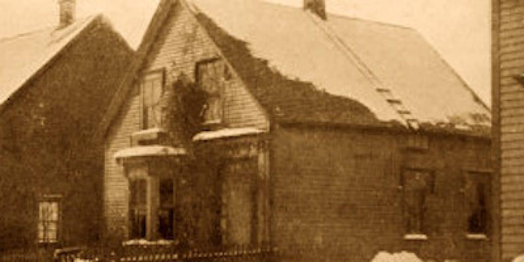 The Great Amherst Mystery. Esther Cox's home in Amherst.