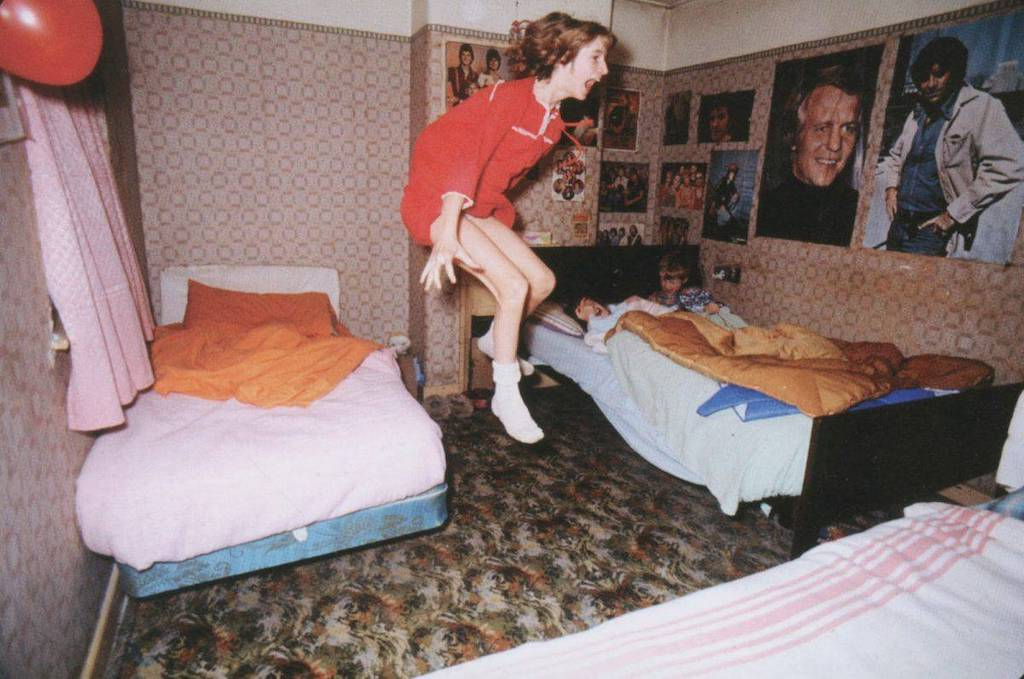 Was she levitating or was it a child's prank? Image: Graham Morris/Cricketpix Ltd