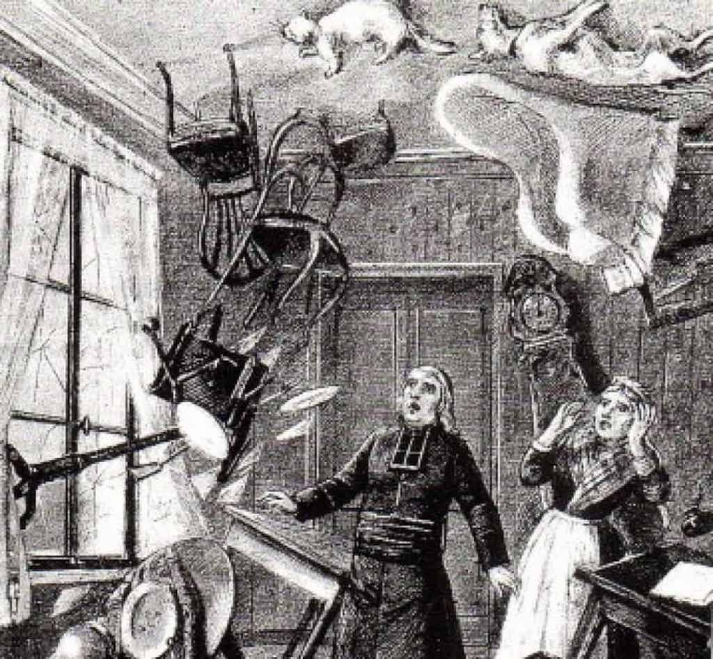 Even Esther Cox's cat did not escape torment by the Amherst poltergeist. Source: unknown.