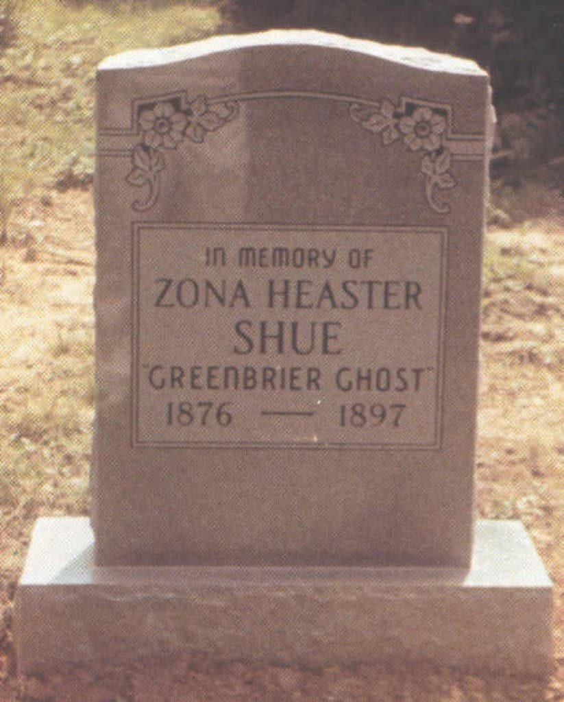 "Zona ""Elva"" Heaster Shue's gravestone"