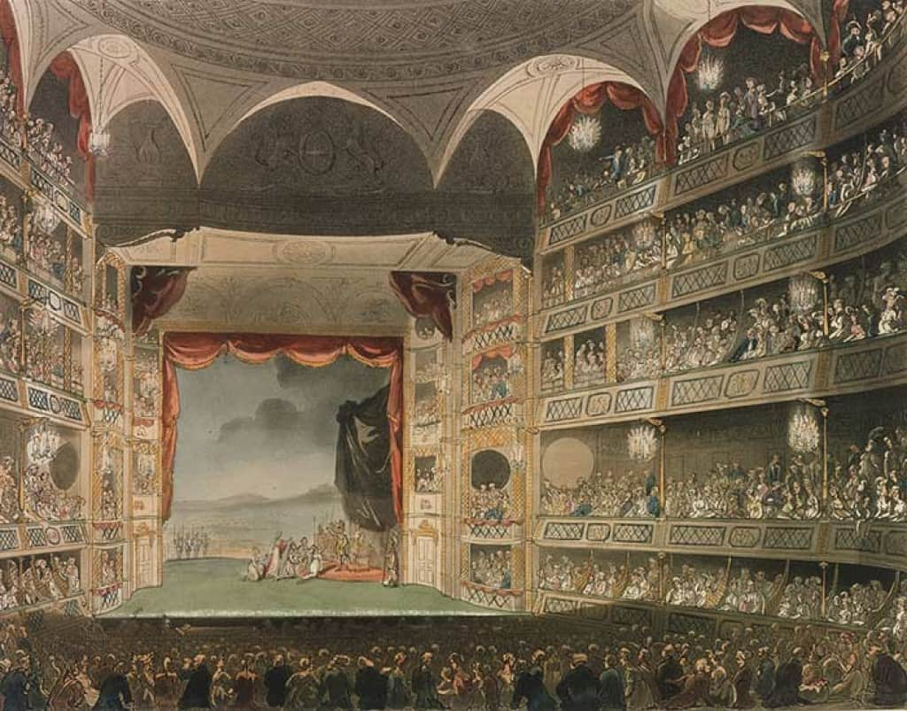 Sketch of the Theatre Royal of Drury Lane in 1808.